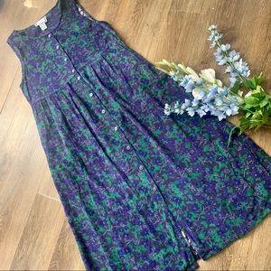Cozy April Cornell Pinafore Maxi Dress!
